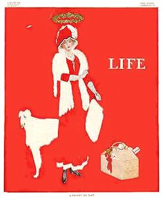 """Coles Phillips - Life Magazine cover (December 22, 1910) """"A Present Day Saint"""" Fadeaway girl"""