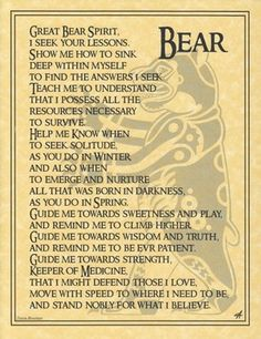 Bear Parchment Page for Book of Shadows or Poster | eBay