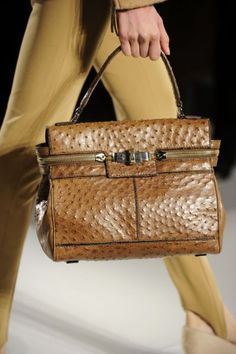Ostrich leather, so sophisticated