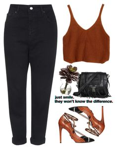 """""""- J.M -"""" by lolgenie ❤ liked on Polyvore featuring Topshop, Daniele Michetti, Proenza Schouler and Nearly Natural"""