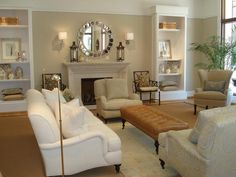 Benjamin Moore's Navajo White With Sofa