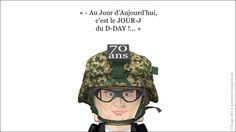 """#33 - 06/06/2014 - (Jour-J pour un Hommage !)  L'expression """"Jour-J"""" est née de l'opération militaire du jour du 6 juin 1944 date du débarquement des alliés en Normandie lors de la Seconde Guerre mondiale. Cette opération militaire, baptisée Overlord, fut la plus grande de l'histoire, tant par ses complications que par l'importance des moyens déployés.../..."""
