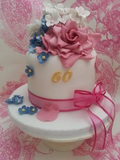 A Special 60th Birthday cake  Cake by welshcottagecupcakes