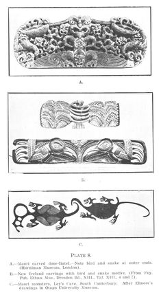 Journal of the Polynesian Society: The Origin And Relationships Of Maori Material Culture And Decorative Art, By H. Skinner, P Abstract Sculpture, Bronze Sculpture, Wood Sculpture, Maori People, Maori Designs, Maori Art, Ice Sculptures, Fish Art, Ancient Artifacts