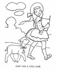 Printable Nursery Rhymes Story Character Coloring Pages To Teach Mother Goose And Pre K Students About The