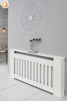Display your favourite home decor pieces with our modern white radiator cabinet. Perfect for creating the ultimate shelfie in your hallway. Shop now at BestHeating. White Radiator Covers, Modern Radiator Cover, Bungalow Hallway Ideas, Wall Radiators, Hallway Designs, Home Room Design, Hallway Decorating, My Living Room, Bathroom Interior