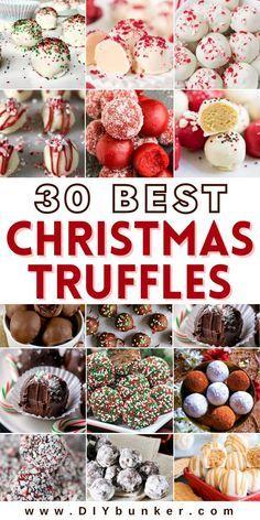 Christmas Truffles, Christmas Deserts, Holiday Desserts, Holiday Cookies, Holiday Baking, Christmas Candy, Holiday Treats, Christmas Foods, Christmas Decor