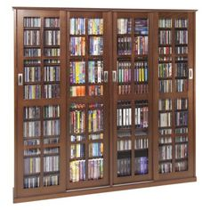 Multimedia Storage Cabinet - Walnut