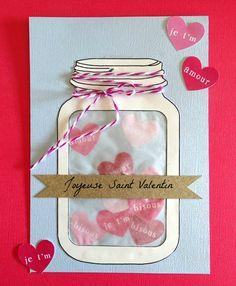 diy carte bocal amour saint valentin