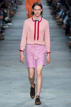 Gucci Primavera 2016 – Mr. & Mrs. Gucci Mens lace Shorts