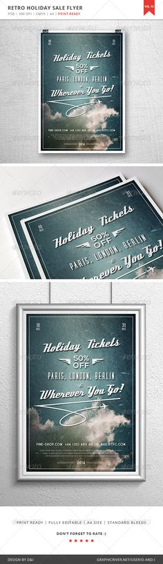 Holiday Sale Flyer - Vol. 12 #GraphicRiver Item Features Layered Photoshop PSD. 300 DPI. CMYK. Fully editable. Standard A4 8.3×11.7 inches print size. Standard bleeds included. Print ready. About Assets Used in This Item This item was created using amazing free assets. You can download them via links provided below: Gear Slab Regular, Bold and Thin free fonts. Download here. Market Deco free font. Download here. Deftone Stylus free font. Download here. Nexa Bold free font. Download here…