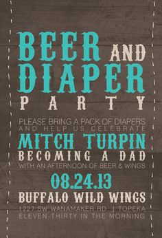 WING & Diaper Party Invitation.....