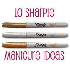 This is a great idea...i have a huge array of colored sharpies i am going to try this with! 10 Sharpie Manicure Ideas | You Put It On