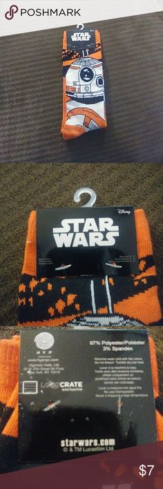 Loot Crate Star Wars Socks. Size 6-12. 1 pair Loot Crate Star Wars Socks. Size 6-12. 1 pair loot crate Underwear & Socks Casual Socks
