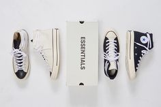 Fear of God's ESSENTIALS diffusion line partners with PacSun for an exclusive release of the iconic Chuck Taylor. Find out how to cop the sneakers here. Chuck Taylors, Converse Chuck Taylor Black, Me Too Shoes, Men's Shoes, Moving To Seattle, Dope Music, All Brands, Fashion Brand, Sneakers Fashion