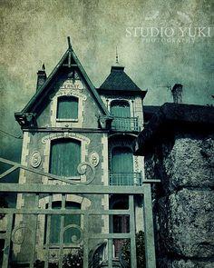 Haunted House Photo Halloween Decor Goth Wall Art by Studio Yuki