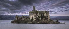 Ruinas de Castle Island, Lough Key, Boyle, Irlanda.