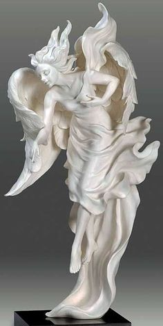 Angel sculpture by Gaylord Ho.