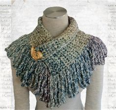 Crochet Neckwarmer With Loop Fringe by TheWrapStation on Etsy, $12.00