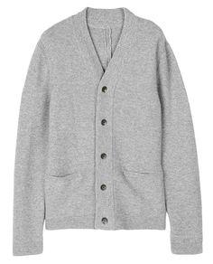 rag & bone Official Store, Graham Granddad Cardigan, light grey fl, Mens : Ready to Wear : Sweaters : Cardigans, M2356568JRBS