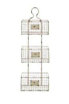 "Tiered Basket Wall Shelf by Rustic Vintage 13""W x 6.5""D x 37""H ($100.00)  $39.00 @HauteLook"