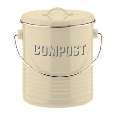 Vintage Kit Compost Caddy in Cream