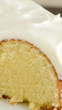 Orange Pound Cake ~ It has a perfectly light orange flavor, it's wonderfully moist, and it's topped with a heavenly orange cream cheese glaze