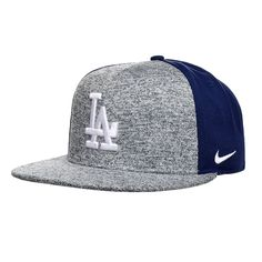 Nike Los Angeles Dodgers New Day True Snapback Hat (Gray)