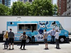 Blue Donkey Food Truck At food truck alley