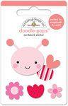 Doodlebug Design - Lovebugs Collection - Doodle-Pops - 3 Dimensional Cardstock Stickers - Love Bug