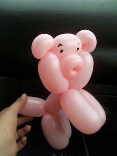 Pig balloon animal