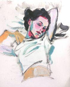painting by Soul Eom 엄은솔 엄은소울 Natalie Portman of Closer Illustrations, Illustration Art, Art Sketches, Art Drawings, Oil Pastel Art, Art Hoe, Pretty Art, Art Sketchbook, Portrait Art