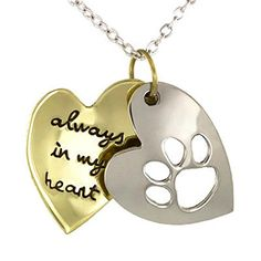 "Pet Memorial Jewelry Necklace ""Always in My Heart"" Cat Dog Paw Memory Gifts Carolyn Jane's Jewelry http://www.amazon.com/dp/B00HXHG7OG/ref=cm_sw_r_pi_dp_5aVfwb0MQGFS8"