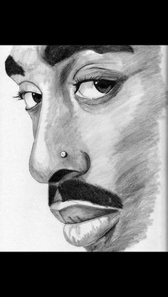Another drawing of Tupac that I saw and loved!