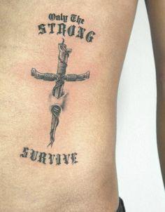 Nail Cross Tattoo  #nail #cross #crosstattoo #strong #survive #hiptattoo