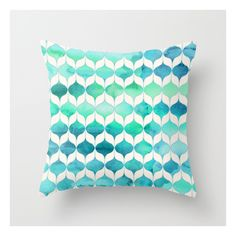 Ocean Rhythms And Mermaid's Tails Throw Pillow ($20) ❤ liked on Polyvore featuring home, home decor, throw pillows, pillow, mermaid home decor, ocean throw pillows, abstract throw pillows and sea home decor