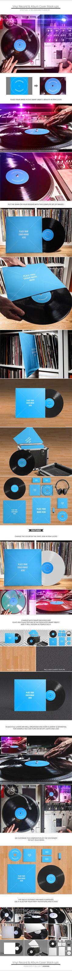 Vinyl Record & Album Cover Mockups with Free iTunes PSD on Behance