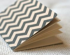 Jotter Pocket Notebook Mini Journal  Chevron by witandwhistle, $5.75