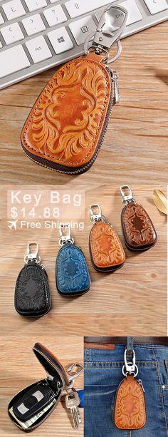 Car Key Holder [$14.88] Free Shipping. Men Women Retro Genuine Leather Car Key Holder Bag. Never loss. Get New Car Key Holder Now