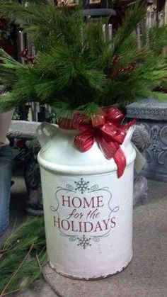 paint milk cans | ... expression applied to painted milk can | Christmas Ideas for
