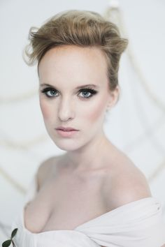 Dramatic bridal beauty. Photo by Feather & Twine Photography. www.wedsociety.com #wedding #beauty