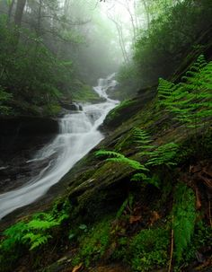 Beautiful USA | Roaring Fork Falls in Pisgah National Forest, North Carolina |  By Mark VanDyke Photography