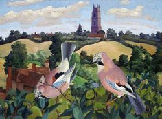 Stoke-by-Nayland Church by Cedric Lockwood Morris Amgueddfa Cymru – National Museum Wales Date painted: 1940 Oil on canvas