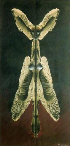 Female spirit of the night - Remedios Varo  Art Experience NYC  www.artexperiencenyc.com