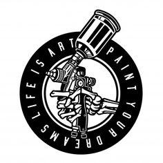 Pintor a pistola Vector Premium Painting Logo, Car Painting, Titanic Tattoo, Bicycle Paint Job, Industrial Paintings, Hand Tattoo, Black Ink Tattoos, Gundam Art, Mushroom Art