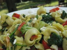 Tortellini with Spinach, Broccoli, Peppers and Pesto — Blog: Quick, Easy & Healthy Dinner Recipes for Moms & Kids — FamilyEducation.com