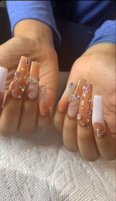 Cute Acrylic Nail Designs, Ombre Nail Designs, Best Acrylic Nails, Drip Nails, Fancy Hands, Nail Inspo, Coffin Nails, Claws, Hair Beauty