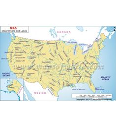 Buy US Longest Rivers Map Rivers - Longest river in the us map