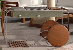 Marco Sangiorgi has created this collection of wood and metal outdoor furniture…