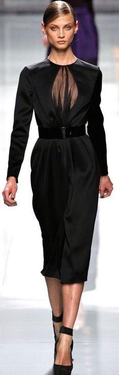 Rosamaria G Frangini | FashionChic | Christian Dior in Black